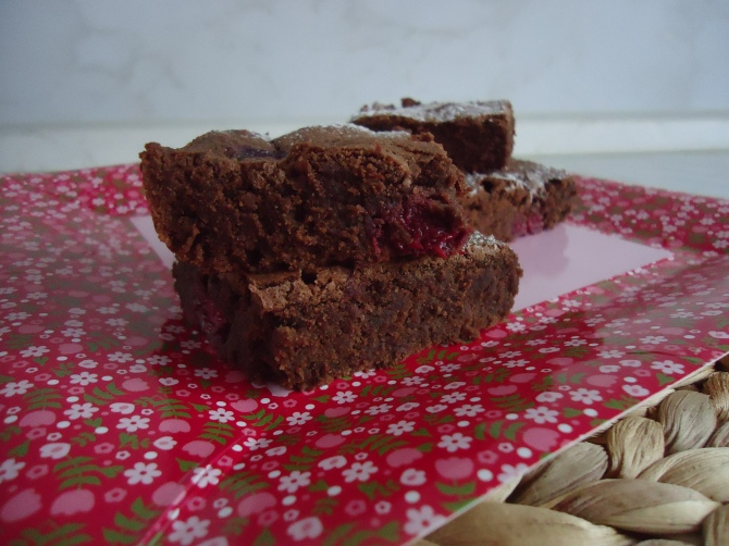 Brownies aux framboises 063