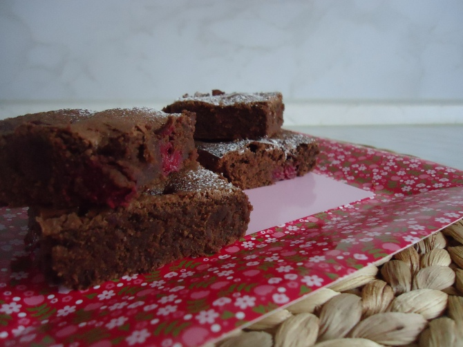 Brownies aux framboises 083