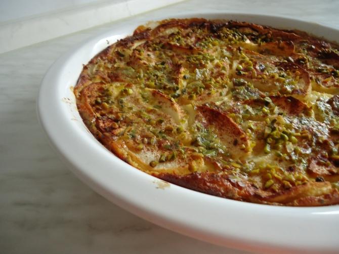 Clafoutis pommes poires et sirop d'orgeat 012