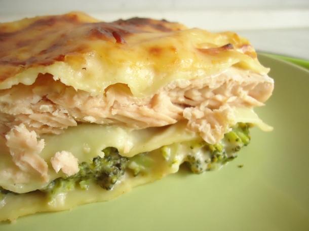 Lasagnes au saumon et brocolis 016