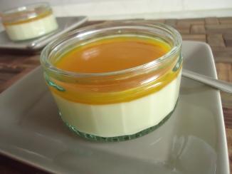 Panna cotta au chocolat blanc et son coulis de mangue 019