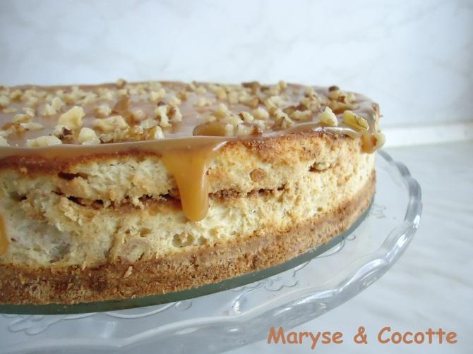 Cheese cake bananes au caramel beurre salé 072