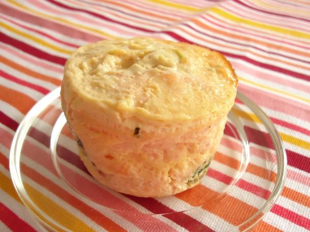 Flan au saumon et coeur brocolis 004