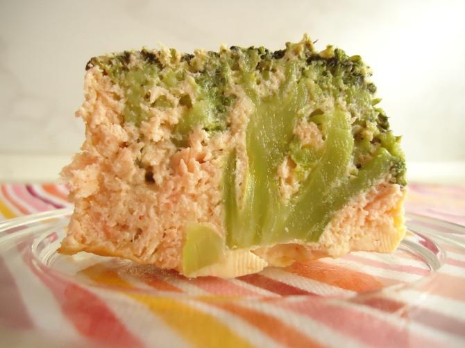 Flan de saumon et son coeur brocolis 001