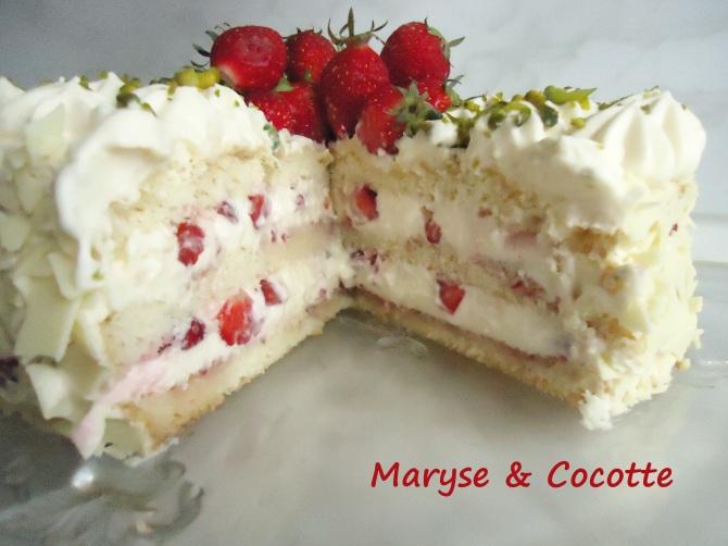 Gâteau diplomate aux fraises 271