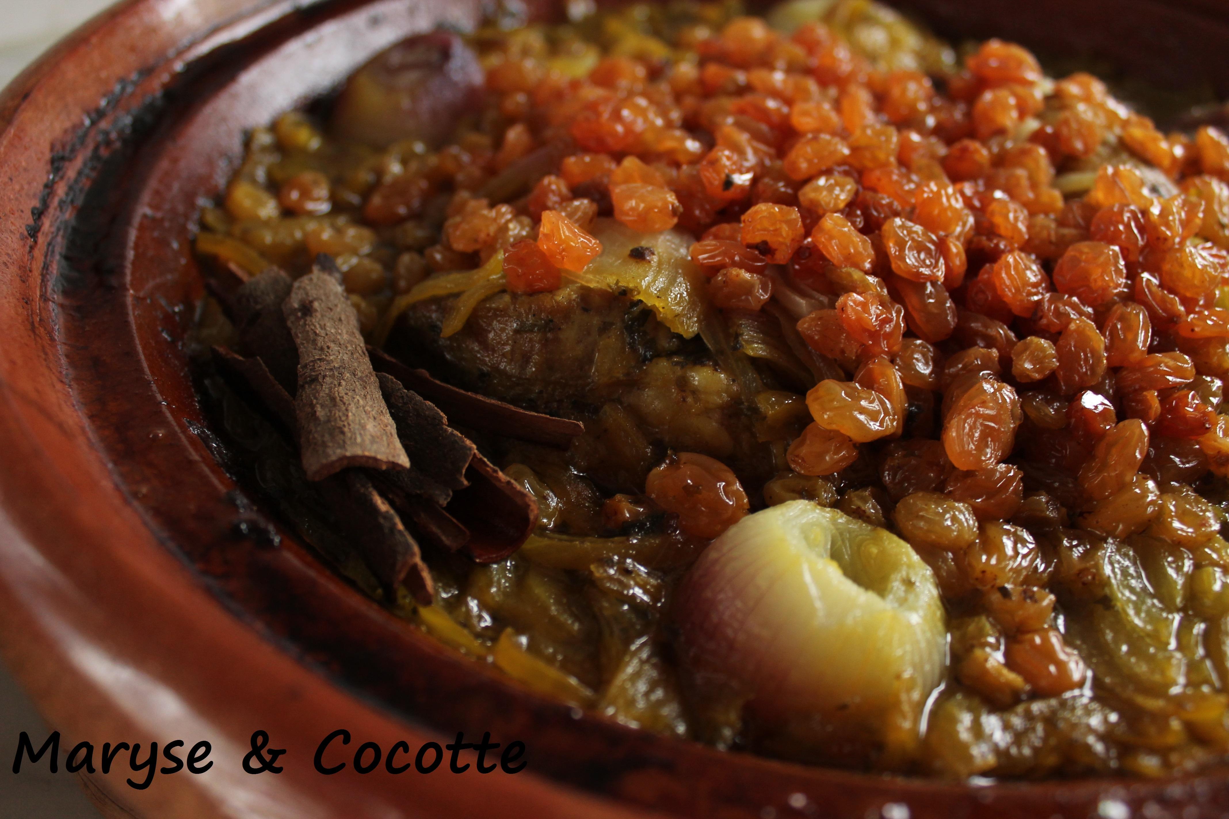 Tagine aux oignons et raisins secs 146