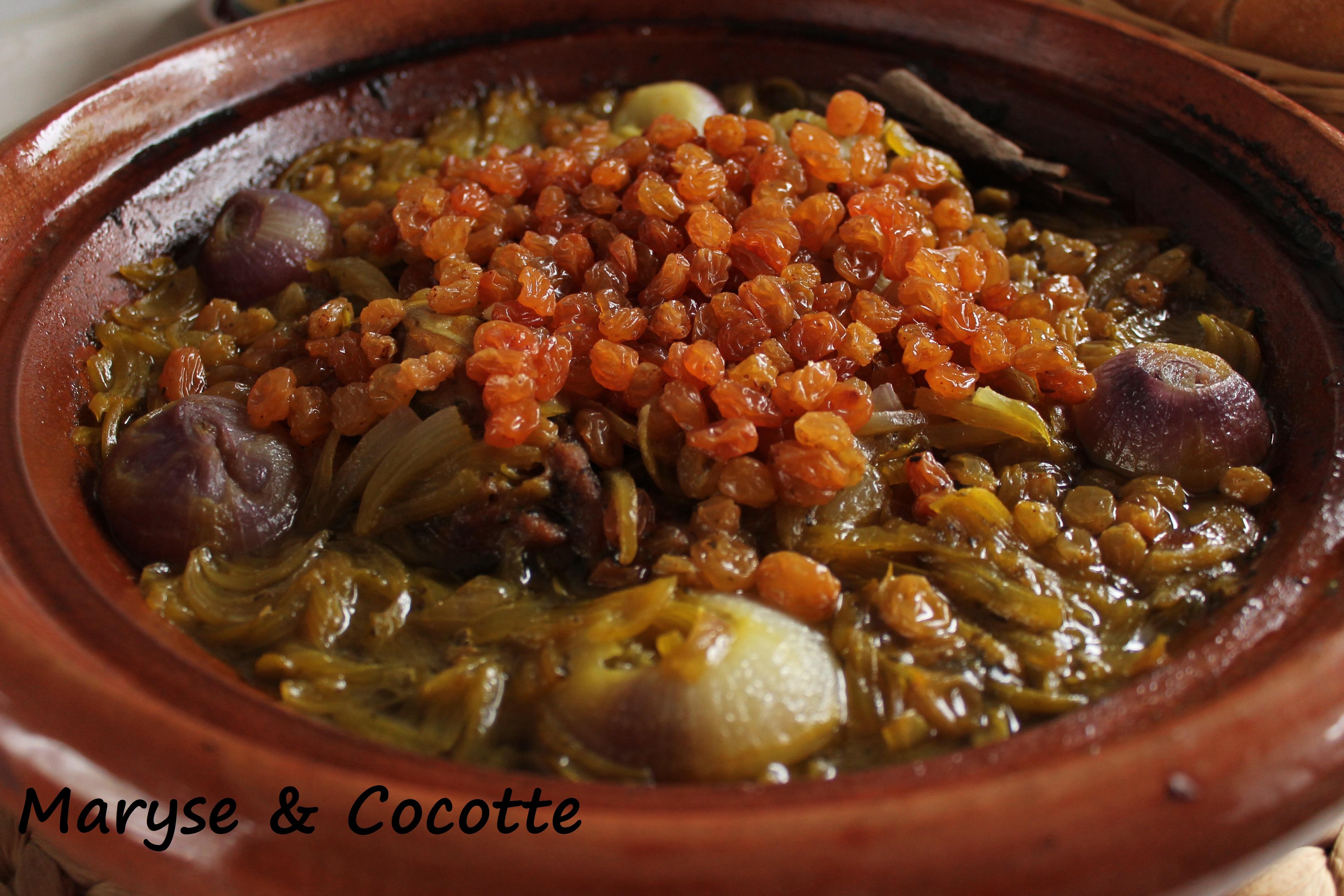 Tagine aux oignons et raisins secs 158