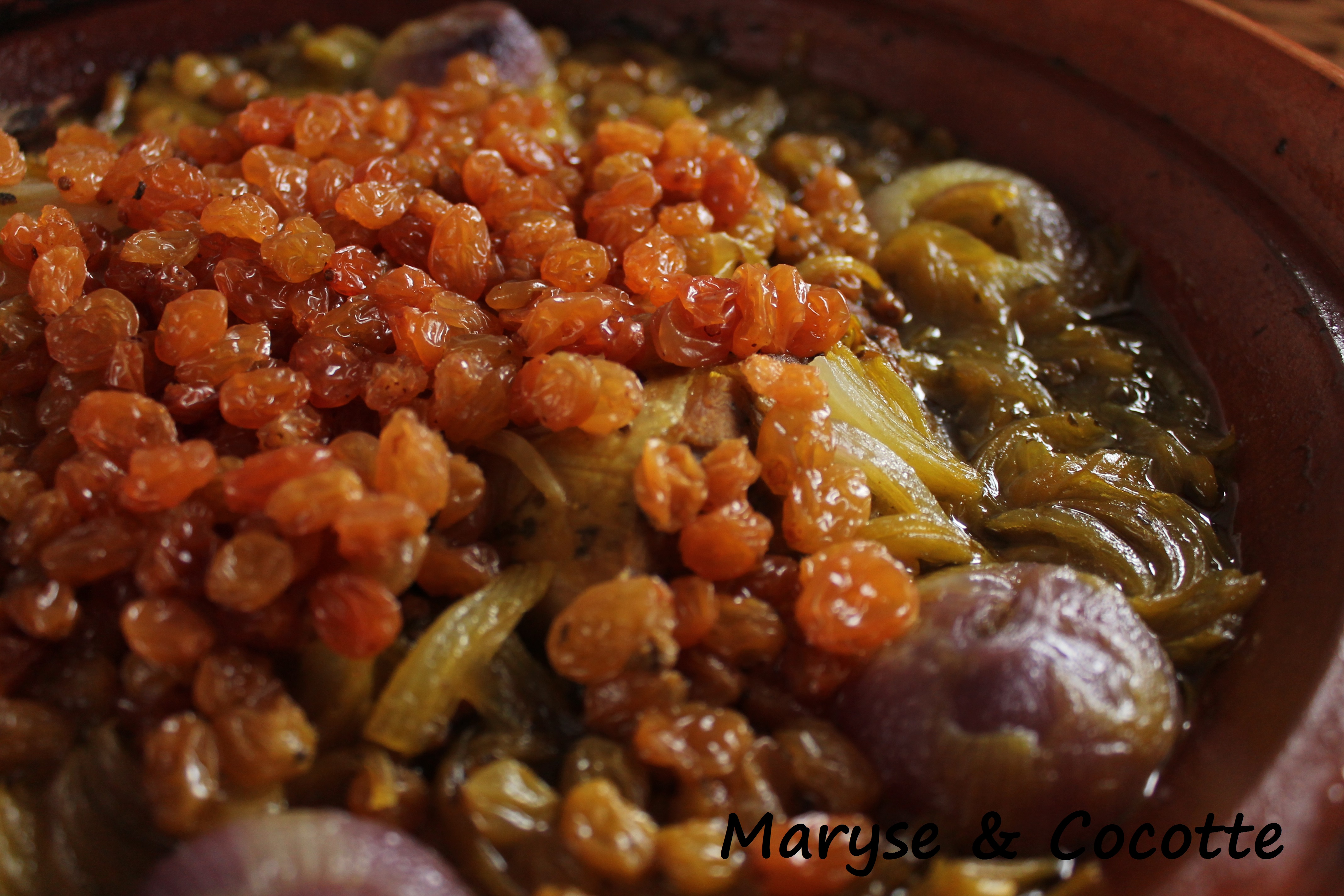 Tagine aux oignons et raisins secs 178