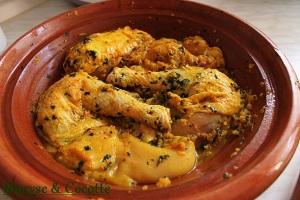 Tagine de poulets aux olives 005