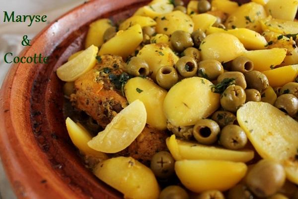Tagine de poulets aux olives 051
