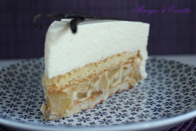 gâteau aux pommes et mousse vanillée – maryse & cocotte