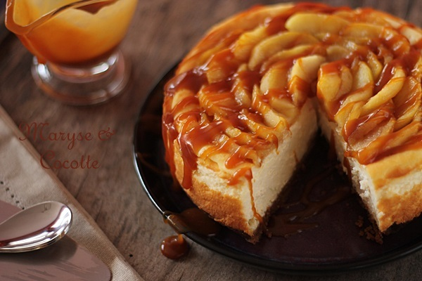 cheese cake aux pommes & son caramel beurre salé – maryse & cocotte