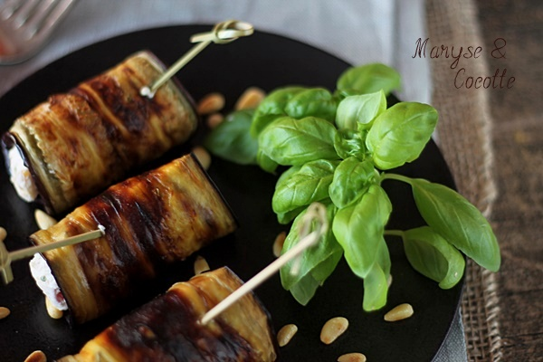 Aubergines Grillees Farcies Au Chevre Maryse Cocotte